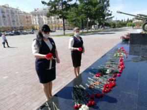 22 июня Возложение цветов у памятника ВОВ